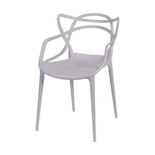 Cadeira Sala de Jantar C/ Braço 54x43x83,5cm Cinza Fendi
