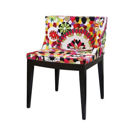 Cadeira Senhorita Tecido - Tecido-b-base-madeira-escura