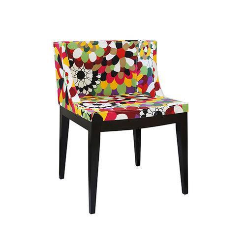 Cadeira Senhorita Tecido - Tecido-c-base-madeira-escura
