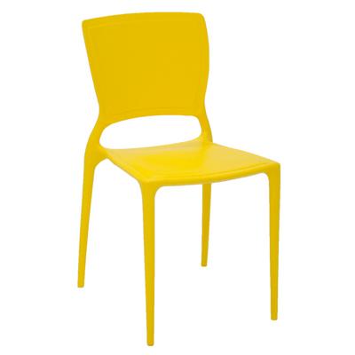 Cadeira Sofia Amarela com Encosto Fechado Tramontina 92236000