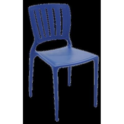 Cadeira Sofia Encosto Vertical Azul Mariner Tramontina 92035030