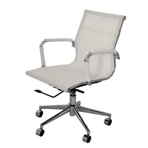 Cadeira Toledo Escritorio Baixa Branca Or Design 3303 - Branco