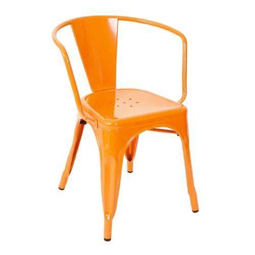 Cadeira Tolix Iron com Braços - Laranja
