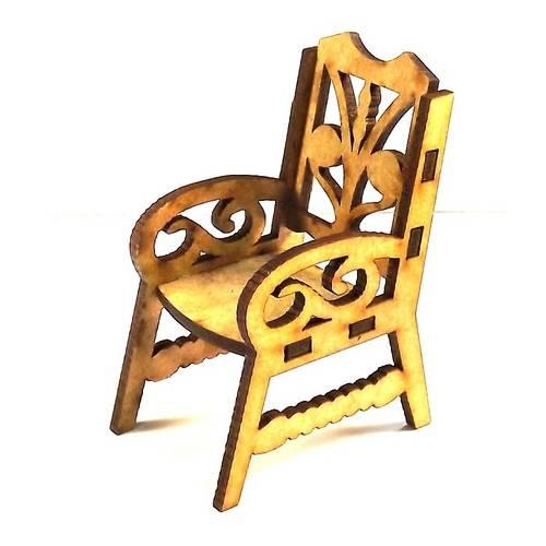 Cadeira Trabalhada Mini - MDF a Laser
