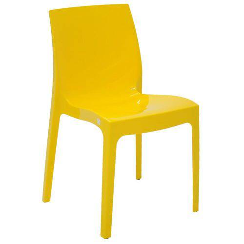 Cadeira Tramontina Alice - Amarelo Brilho