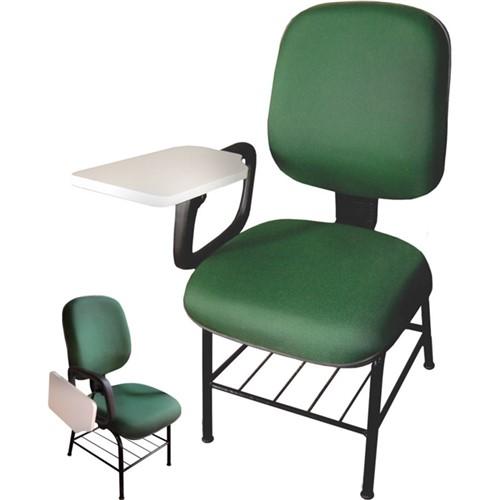 Cadeira Universitária Braço Escamoteável Verde MQ05 Pethiflex