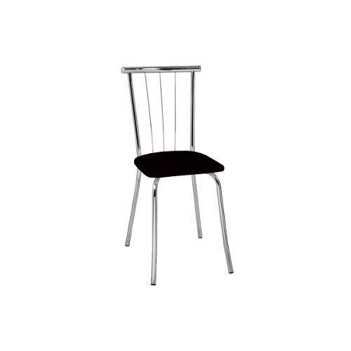 Cadeiras Carraro 154 (2 Unidades) - Cor Cromada - Assento Couríno Jeans