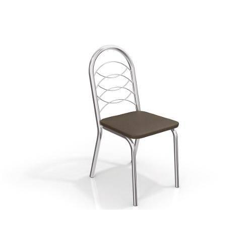 Cadeiras Kappesberg Holanda 2c009cr 2 Unidades- Cor Cromada - Assento Linho Marrom 22