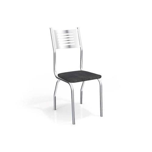 Cadeiras Kappesberg Munique 2c047cr 2 Unidades- Cor Cromada - Assento Linho Marrom 22
