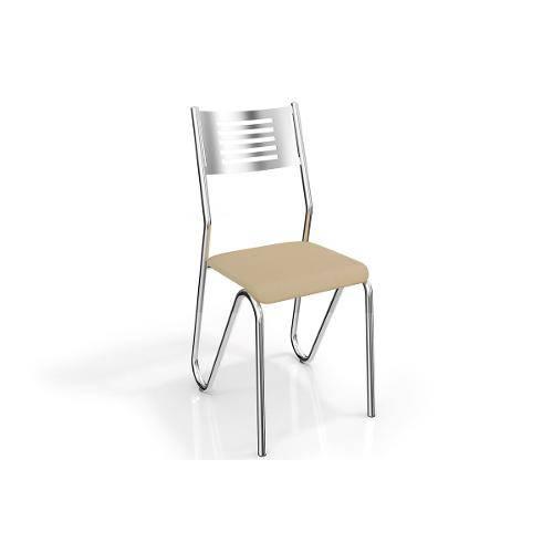 Cadeiras Kappesberg Nápoles 2c045cr 2 Unidades- Cor Cromada - Assento Linho Marrom 22