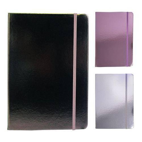 Caderneta / Bloco de Notas com 80 Folhas Metalizada