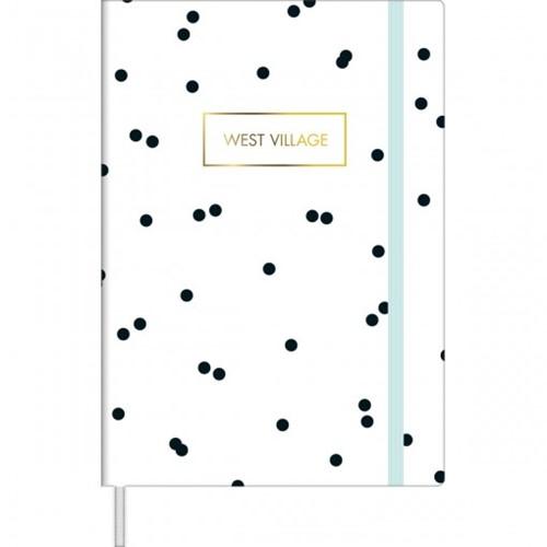 Caderneta Costurada Capa Dura M Sem Pauta West Village 80 Folhas