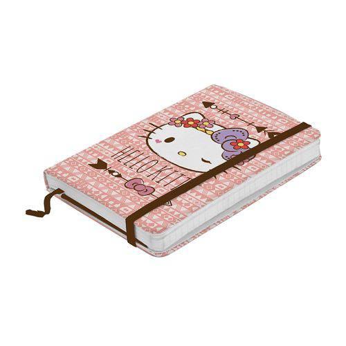 Caderneta de Anotações Hello Kitty com 100 Folhas A5 e Elástico