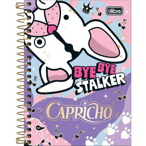 Caderneta Espiral 1/8 Capricho 80 Folhas - Tilibra