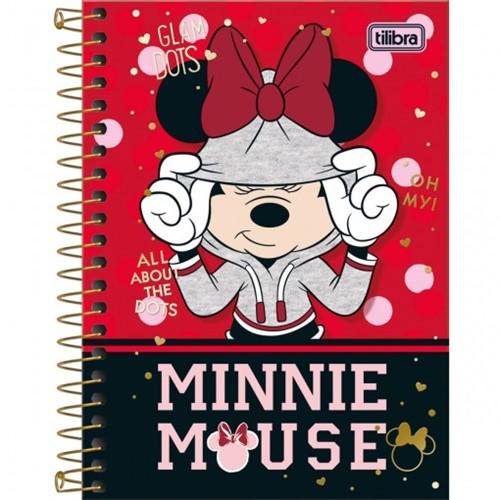 Caderneta Espiral Capa Dura 1/8 Minnie 80F - Sortido (Pacote com 4 Unidades)