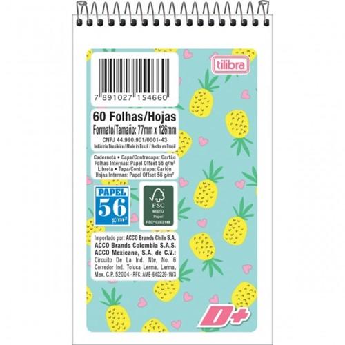 Caderneta Espiral Capa Flexível D+ 60 Folhas - Sortido
