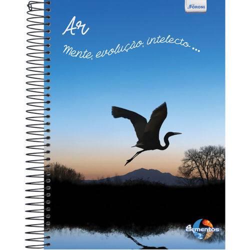 Caderno 20 Matérias Capa Dura 2017 Quatro Elementos 400 Folhas Pct.C/02 Foroni