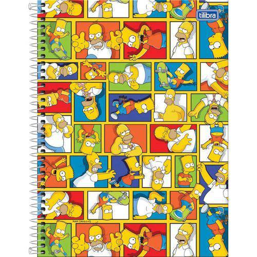 Caderno 01x1 Capa Dura 2018 The Simpsons 96 Folhas Tilibra P