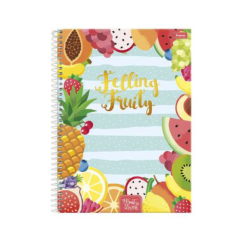 Caderno 1/4 96 Fls C.d. Foroni - Fruit Lovers 2
