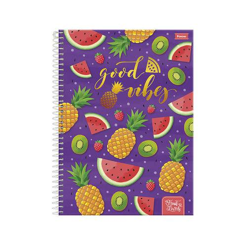 Caderno 1/4 96 Fls C.d. Foroni - Fruit Lovers 3