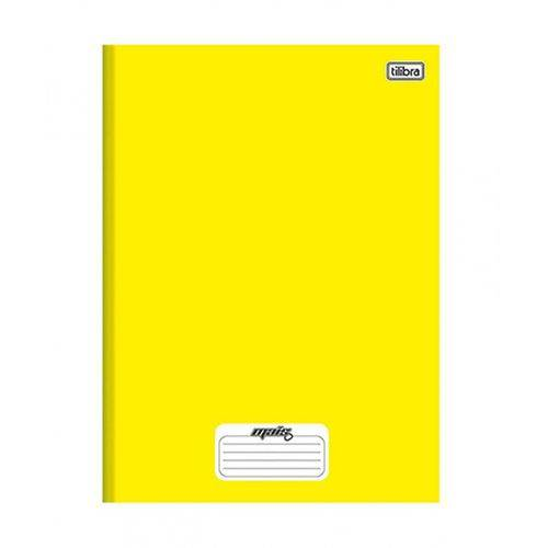 Caderno 1/4 Brochura Capa Dura Amarelo Pequeno 96 Fls- Pte com 10 Unid.-Tilibra