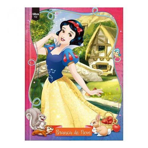 Caderno 1/4 Brochura Capa Dura Pequeno Branca de Neve -96 Fls -Tilibra