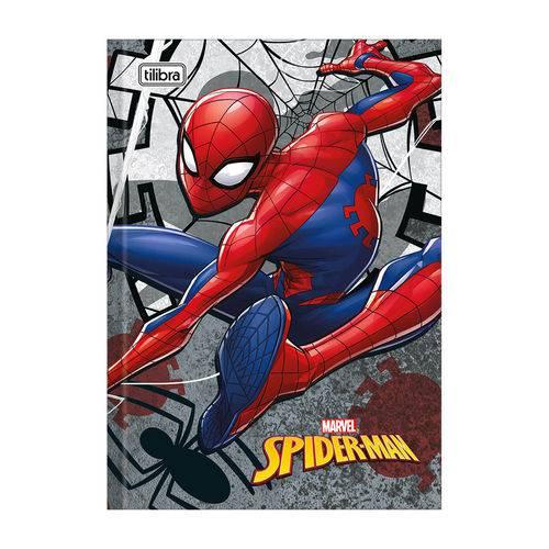 Caderno 1/4 Brochura Spider Man - Cinza - 96 Folhas - Tilibra