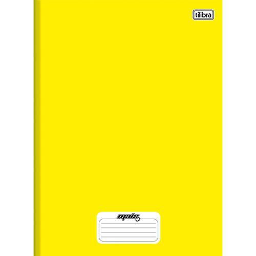 Caderno 1/4 Capa Dura Tilibra Mais+ Amarelo - 96 Folhas