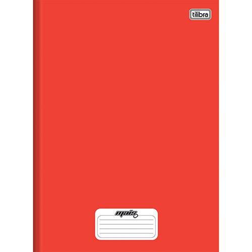 Caderno 1/4 Capa Dura Tilibra Mais+ Vermelho - 96 Folhas