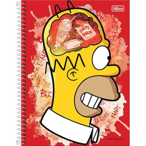 Caderno 1 Materia Capa Dura 2017 The Simpsons 96 Folhas Pct.c/04 Tilibra