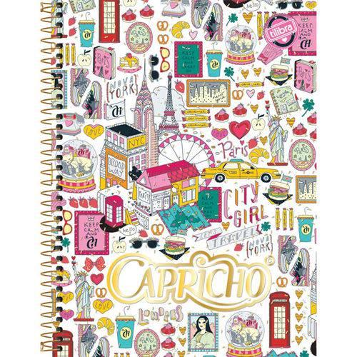 Caderno 12 Matérias Capa Dura 2017 Capricho 240 Folhas Pct.C/04 Tilibra
