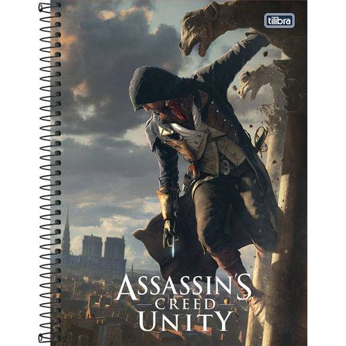 Caderno 10 Matérias Capa Dura 2017 Assassin S Creed 200 Folhas Pct.C/04 Tilibra
