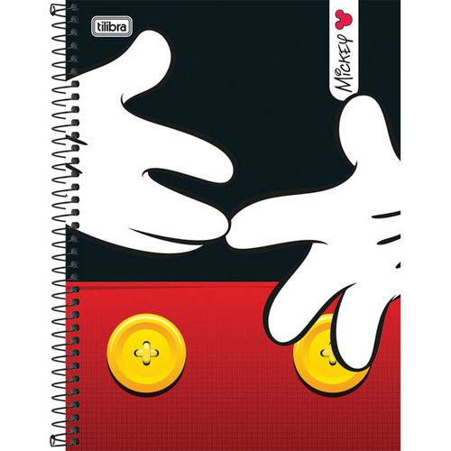 Caderno 10 Matérias Capa Dura 2017 Mickey 200 Folhas Pct.C/04 Tilibra