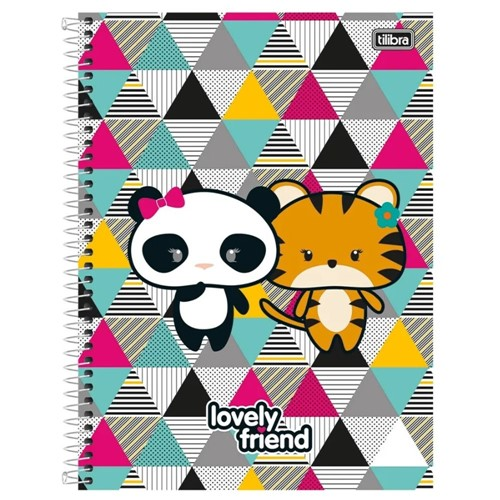 Caderno 10X1 C.D. 200 Folhas Lovely Friend 118982 -Tilibra