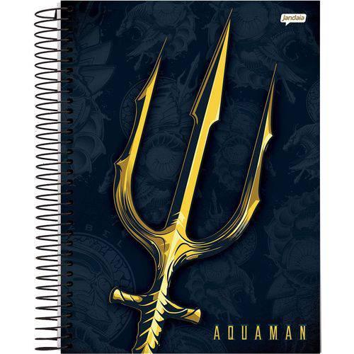 Caderno 10x1 Capa Dura 2019 Aquaman 200fls. Jandaia