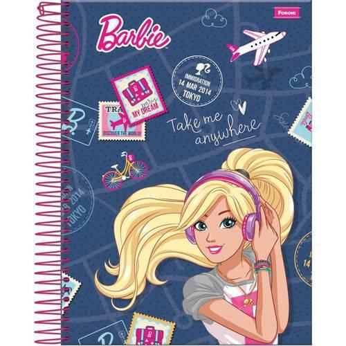 Caderno 1x1 Capa Dura 2019 Barbie 96 Folhas