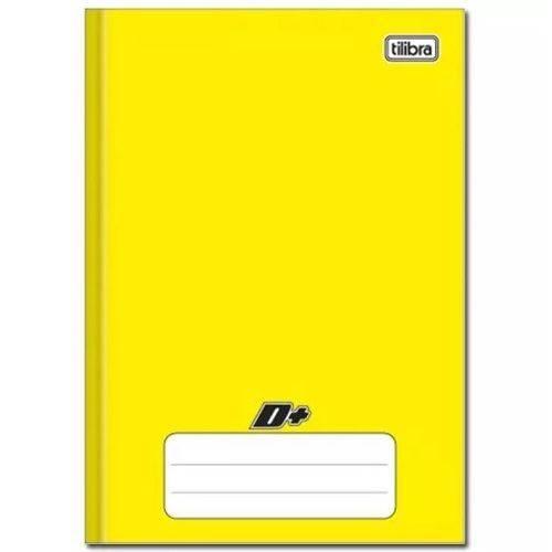 Caderno Amarelo D+ ¼ Brochura Capa Dura Costurado 48 Folhas