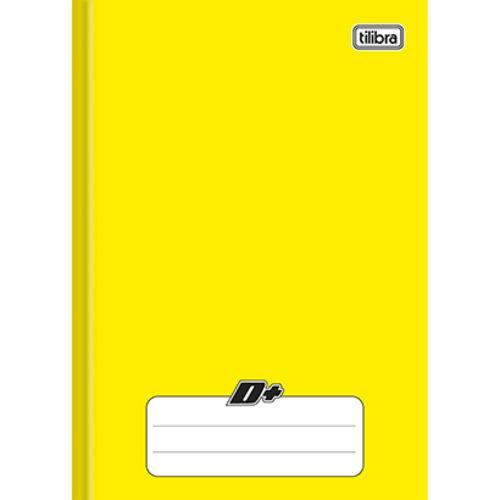 Caderno Amarelo D ¼ Brochura Capa Dura Costurado 48 Folhas