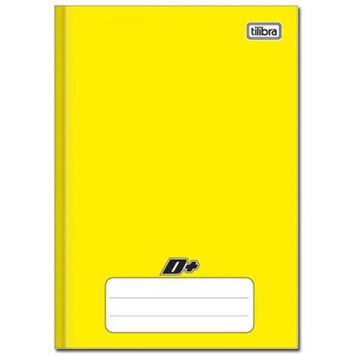 Caderno Amarelo D ¼ Brochura Capa Dura Costurado 96 Folhas