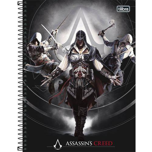 Caderno Assassins Creed 16x1 - 320 Folhas - Tilibra - Cinza