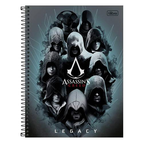 Caderno Assassins Creed Legacy - 1 Matéria - Tilibra