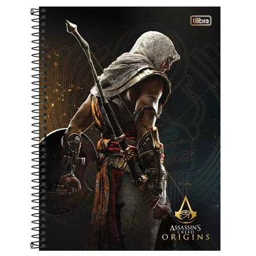 Caderno Assassin's Creed Origins Espiral Universitario 16 Materias 320 Folhas 596621-Tilibra