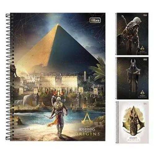 Caderno Assassins Creed Origins Universitario (1x1) 96 Folha