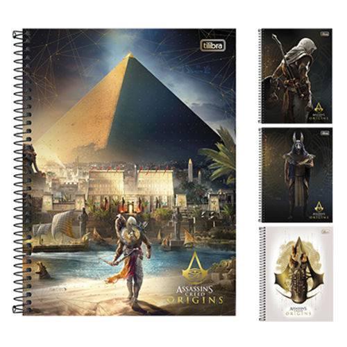 Caderno Assassins Creed Origins Universitario 1x1 96 Folhas