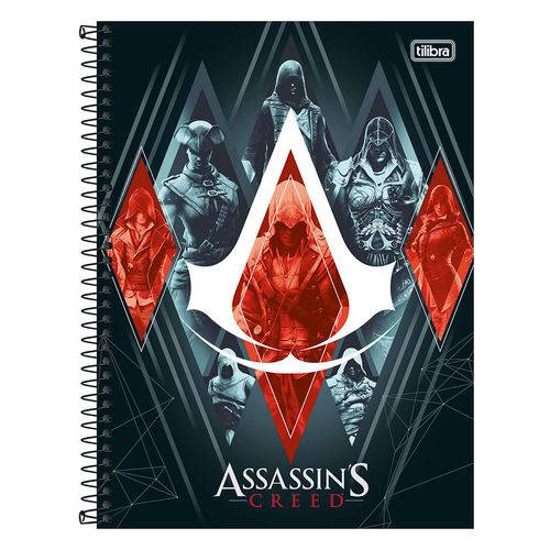Caderno Assassins Creed - Símbolo - 1 Matéria - Tilibra