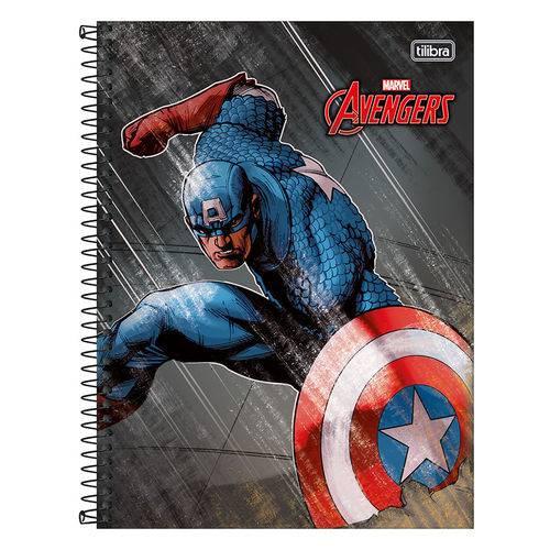 Caderno Avengers - Capitão América - 10 Matérias - Tilibra