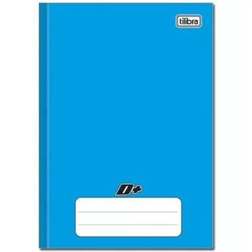 Caderno Azul D+ ¼ Brochura Capa Dura Costurado 48 Folhas