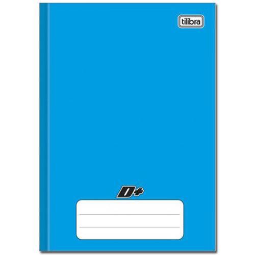 Caderno Azul D ¼ Brochura Capa Dura Costurado 96 Folhas