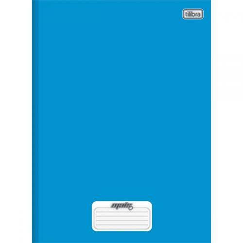 Caderno Brochura 1/4 96 Fls Azul