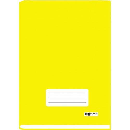 Caderno Brochura 1/4 Capa Dura 96 Folhas Kajoma Amarelo